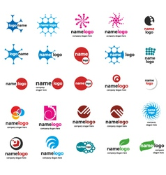 Different logo balls vector