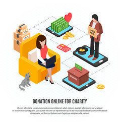 donation online for charity vector image