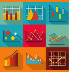 Economic policy icons set flat style vector