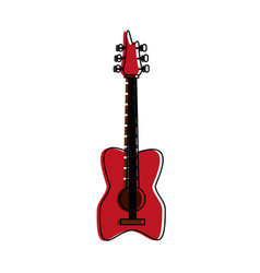 Eletric guitar isolated vector