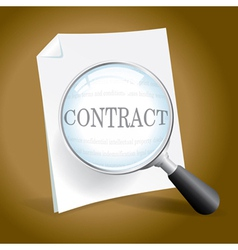 Examining a Contract vector image