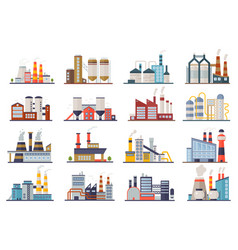 factory industry manufactory power electricity vector image