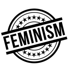 Feminism stamp typ vector