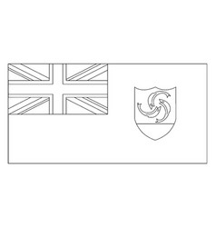 Flag of anguilla 2009 vintage vector
