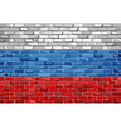 Flag of Russia on a brick wall vector image