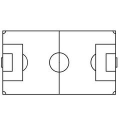 football field eps 10 vector image
