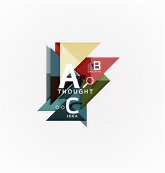 geometric design abstract option infographics vector image