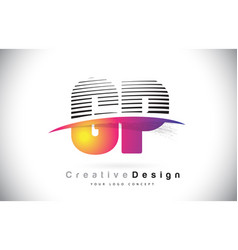 gp g p letter logo design with creative lines and vector image
