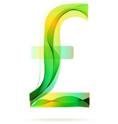 Green abstract Frank sign vector image