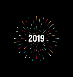 happy new 2019 year holiday with festive vector image