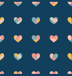 heart collage seamless pattern vector image