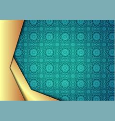 islamic design of eid kareem vector image