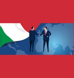 italy international partnership diplomacy vector image