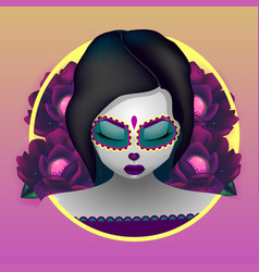 katrina the day of the dead vector image