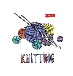 Knitting equipment vector