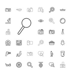 Lens icons vector