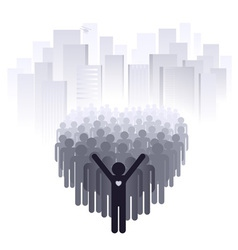 Love for the big city vector