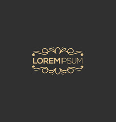 luxury logo design ready to use for your company vector image