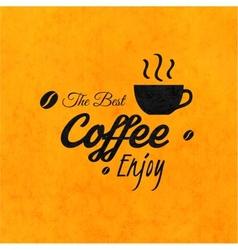 menu for restaurant best coffee enjoy use vector image