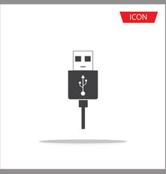 micro usb cables icon isolated on white background vector image