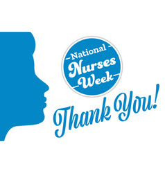 National nurses week holiday concept template vector