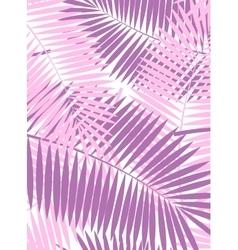 Palm Leaf Frame Background vector image