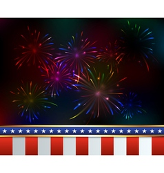 Patriotic fireworks fourth july vector