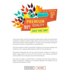 Premium quality buy now poster vector