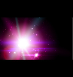 purple cosmic star bright flash galaxy vector image