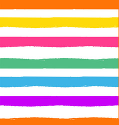 rainbow striped seamless pattern rough lines vector image