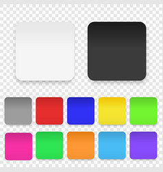 realistic 3d square adhesive colored blank vector image
