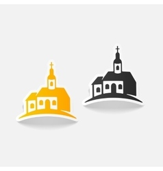Realistic design element church vector
