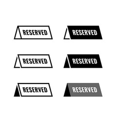 Reserved table icon Black and white color vector