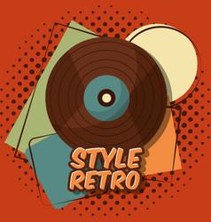 Retro vintage device vector