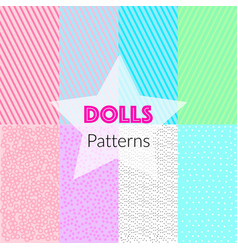 Seamless patterns in lol style vector