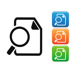 searching documents button icons vector image
