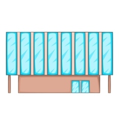 Solar battery building icon cartoon style vector