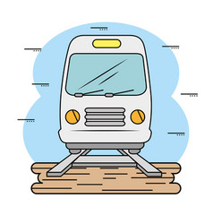 subway and railroad icon vector image