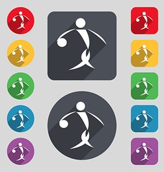 Summer sports basketball icon sign A set of 12 vector