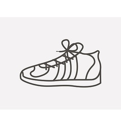 Tennis shoes design vector