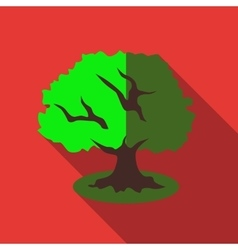 Tree icon flat style vector image