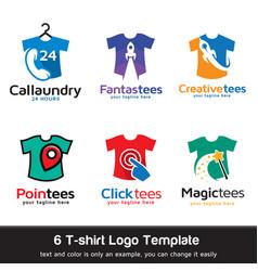 tshirt logo template vector image
