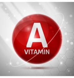 Vitamin A icon vector image