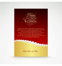 Wedding jewelry invitation card vector