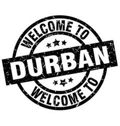 welcome to durban black stamp vector image vector image