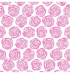 White background with pink roses vector image