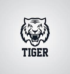 Wild tiger logotype theme vector
