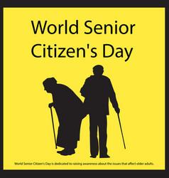 World senior citizens day vector