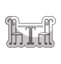 Wrought iron frame isolated icon vector