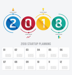 2018 business startup planning infographic vector